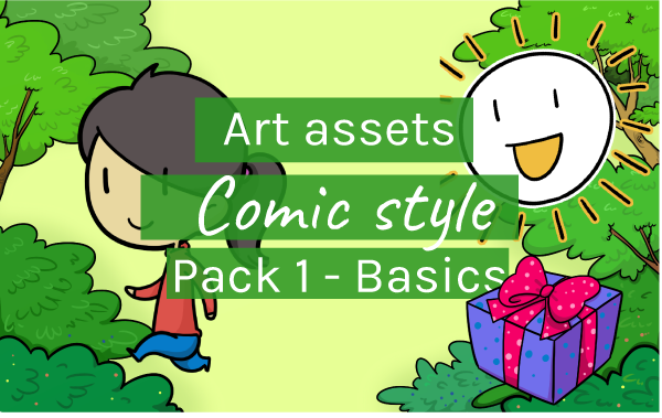 Art Assets Comic Style Pack 1 - Basics