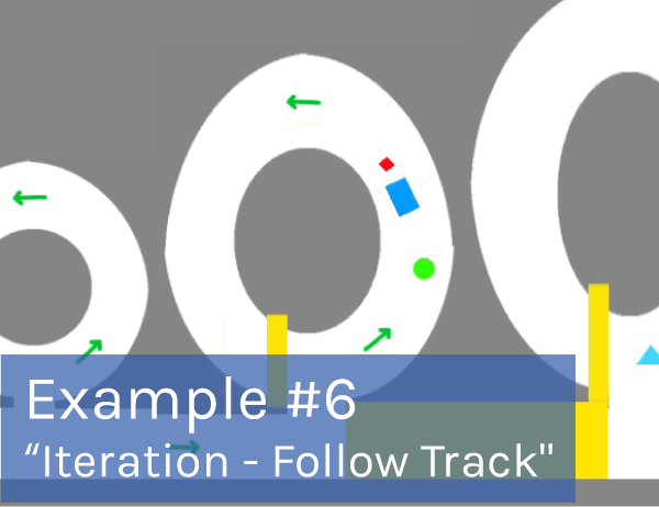 "Preview of game example #6: ""Iteration Follow Track"" game."