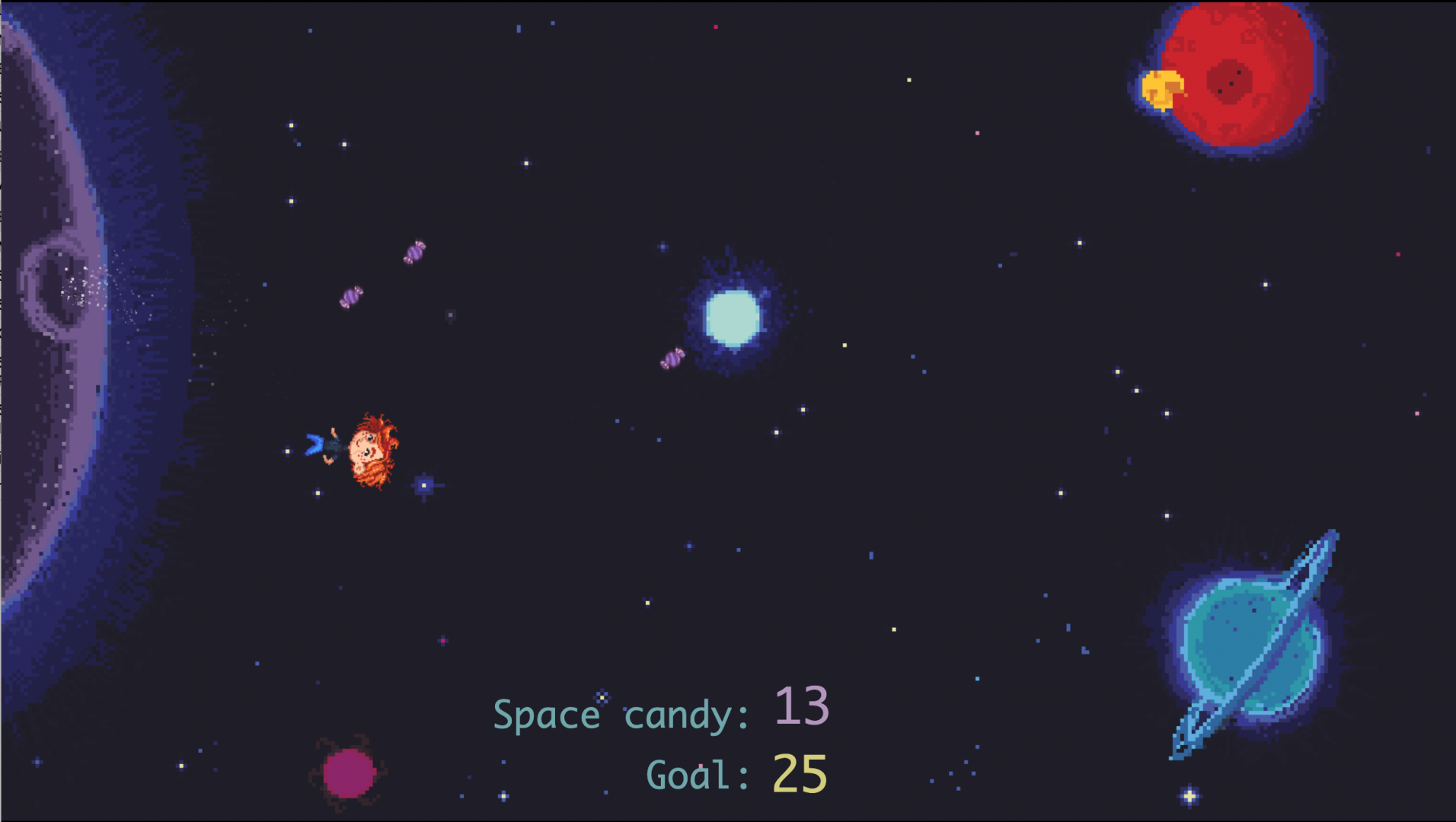 Screenshot 3 of Space Candy playable concept.