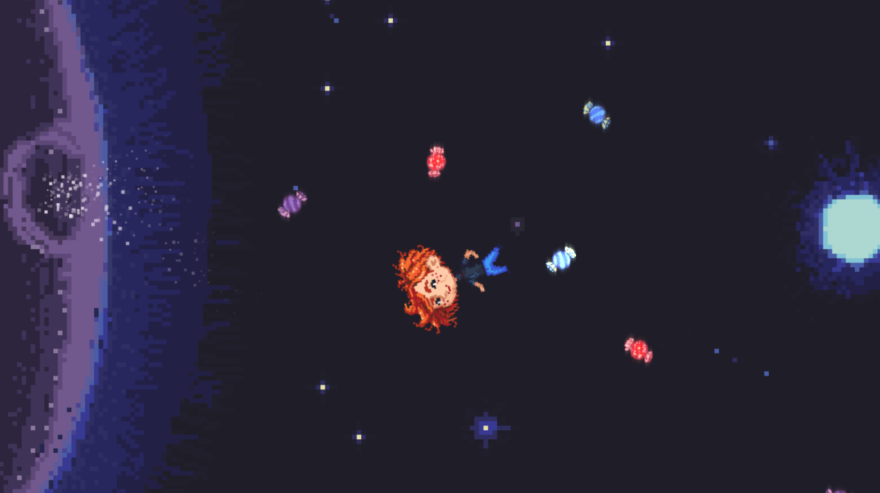 Screenshot 4 of Space Candy playable concept.