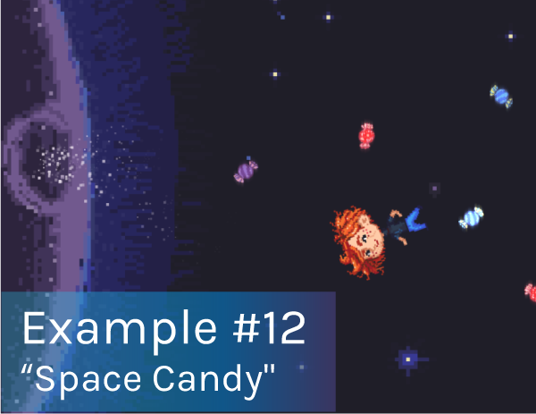 Example 12 - Space Candy playable